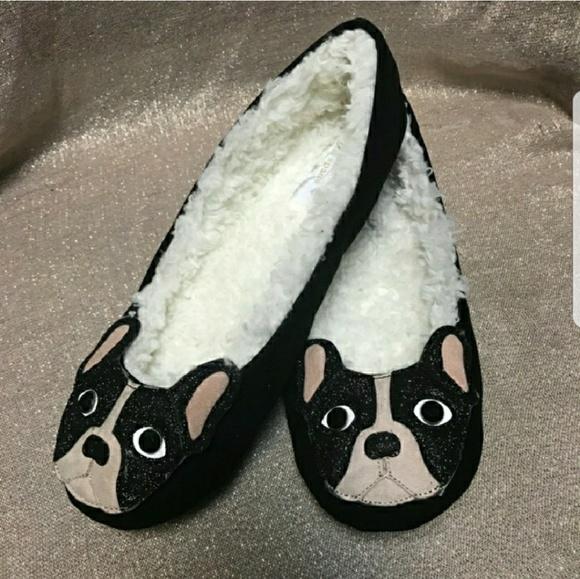 8c9cc5350964 Kate Spade bulldog slippers size 6